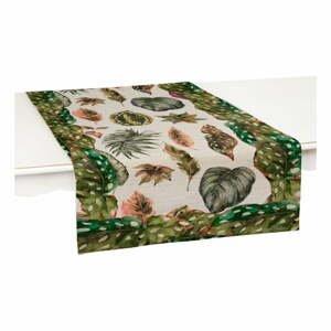 Běhoun na stůl Surdic Leaves, 140 x 45 cm