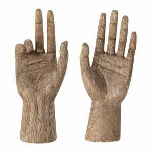Sada 2 sošek zmangového dřeva Bloomingville Teis Deco, výška 13cm