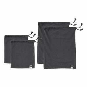 Sada 4 černých svačinových sáčků z recyklované bavlny Ladelle Eco