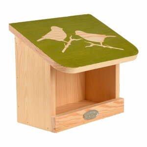 Krmítko pro ptáky z masivní borovice Esschert Design Diapozitiv,délka 23cm