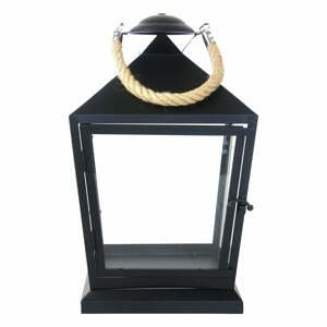 Černá lucerna Esschert Design Classical,výška35,4cm