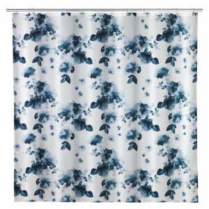 Sprchový závěs s protiplísňovým povrchem Wenko Rose Bleu, 200 x 180 cm