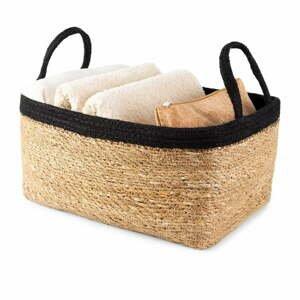 Úložný košík z mořské trávy Compactor Natural,34x23cm