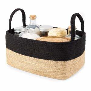 Úložný košík z juty a bavlny Compactor Basic,29x20cm