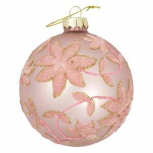 Růžová skleněná vánoční ozdoba Green Gate Marie