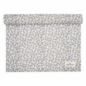 Modro-bílý bavlněný běhoun na stůl Green Gate Addison,140x45cm