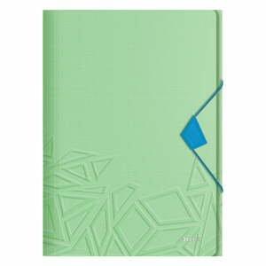 Zelené kancelářské desky s 3 chlopněmi Leitz