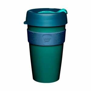 Zeleno-modrý cestovní hrnek s víčkem KeepCup Polaris,454ml