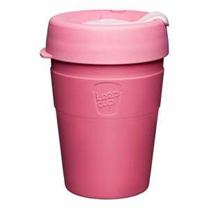 Růžový cestovní hrnek s víčkem KeepCup Saskatoon Thermal,340ml
