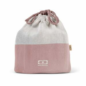 Růžový textilní sáček na svačinový box Monbento Pochette