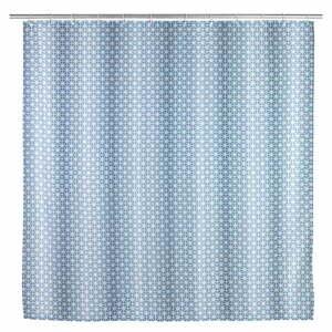 Modrý sprchový závěs Wenko Cristal,180x200cm