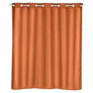 Oranžový sprchový závěs Wenko Comfort,180x200cm