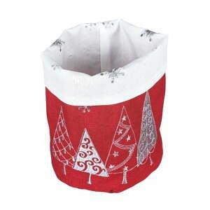 Červený vánoční košík na pečivo Villa d'Este Geometric Tree