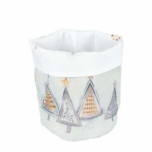 Světle šedý vánoční košík na pečivo Villa d'Este Geometric Tree