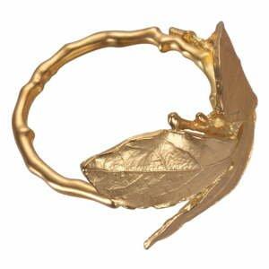 Sada 4 kovových kroužků na ubrousky ve zlaté barvě Villa d'Este Foglia