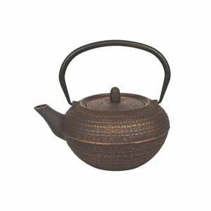 Hnědá litinová konvička na čaj Villa d'Este Hosaka,800ml