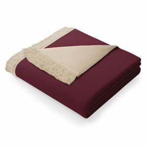 Fialovo-béžová deka s příměsí bavlny AmeliaHome Franse,150x200cm