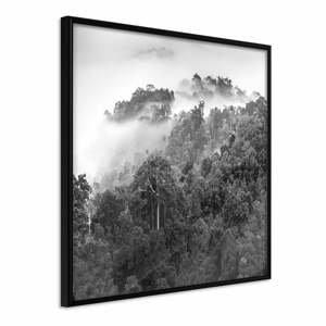 Plakát v rámu Artgeist Foggy Forest, 50 x 50 cm