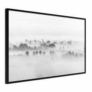 Plakát v rámu Artgeist Fog Over the Forest, 60 x 40 cm