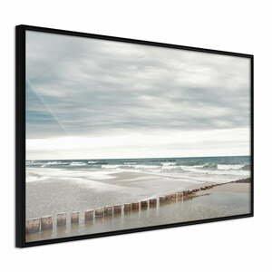 Plakát v rámu Artgeist Chilly Morning at the Seaside, 90 x 60 cm