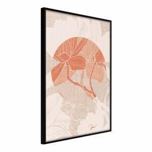 Plakát v rámu Artgeist Flowers on Fabric, 20 x 30 cm