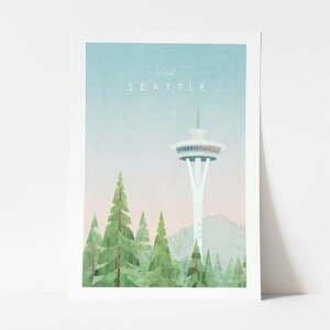 Plakát Travelposter Seattle, A2