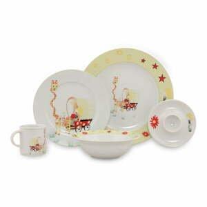 5dílný dětský porcelánový jídelní set Kütahya Porselen Giraffe