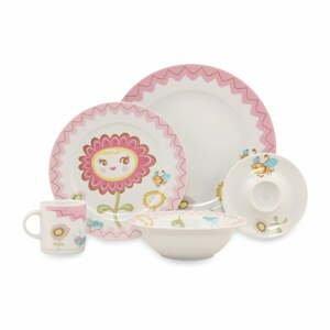 5dílný dětský porcelánový jídelní set Kütahya Porselen Bloom