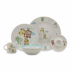5dílný dětský porcelánový jídelní set Kütahya Porselen Best Friends