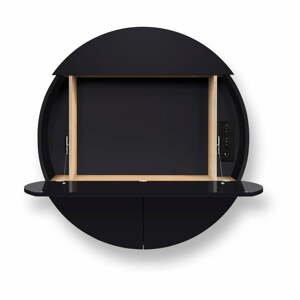 Černý multifunkční nástěnný stůl EMKO Pill Extra