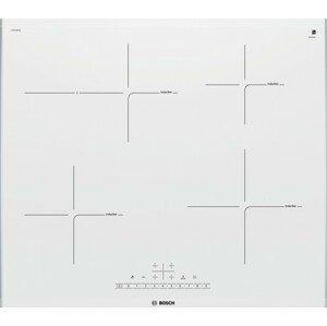 Indukční deska indukční varná deska bosch,60cm,4zóny,1xpečící,7,4kw,bílá