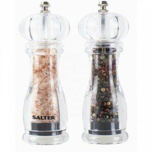 Kořenky sada mechanických mlýnků na sůl a pepř salter 7606clxr
