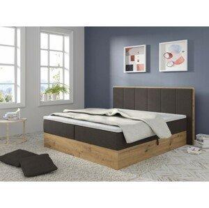 čalouněná postel carolina 180x200,tmavě šedá, vč. mat., top., úp