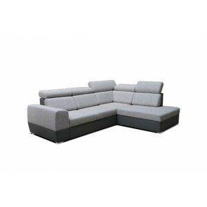 Rohová sedačka rozkládací matrix pravý roh úp šedá - ii. jakost